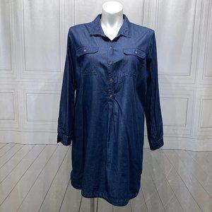 Old Navy Blue Jean Look Dress Shirt XXL